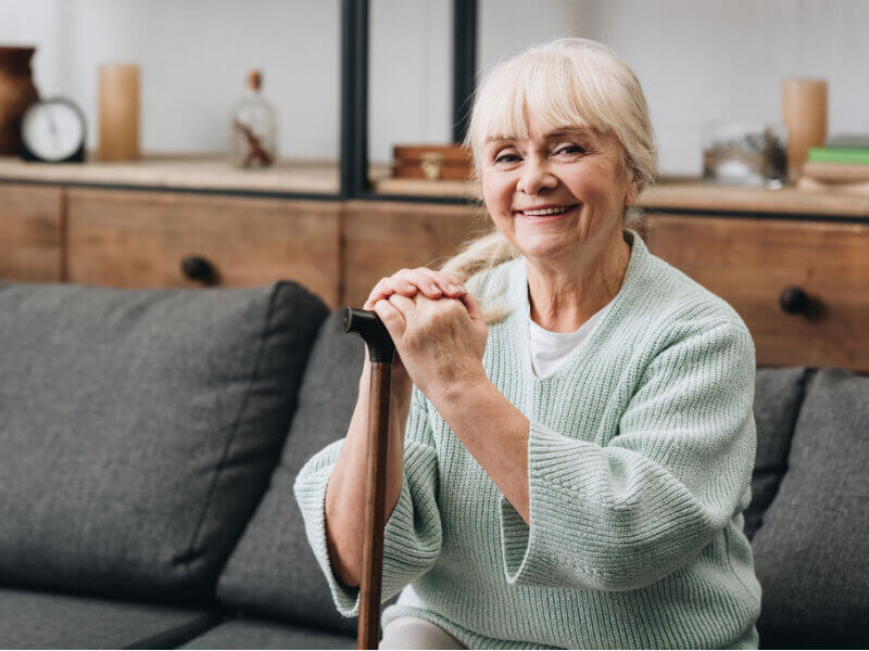 home care patient sitting down